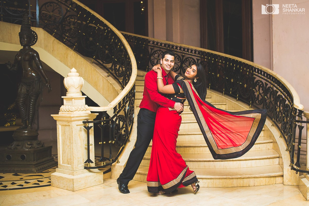 Leela Palace Bangalore Pre Wedding Candid Black